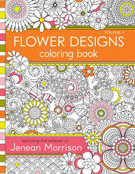 Book Side Designs Amazon Com Flower Designs Coloring Book An Adult Coloring