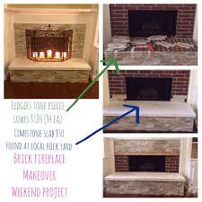 Diy Fireplace Makeover Ideas Brick Fireplace Makeover Home Sweet Home Pinterest Brick