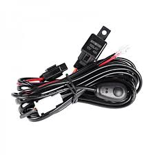 auxbeam 12v 40a hid led light bar wiring harness kit(for one light) winch wiring harness at 12 Volt Wiring Harness Kit