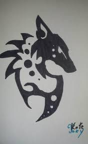 tribal fox drawing. Contemporary Fox How To Draw A Tribal Fox Symbol Inside Drawing