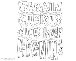 Growth Mindset Coloring Pages Remain Curious And Keep Learning