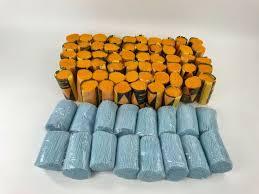 details about large lot assorted latch hook rug yarn packs rolls pre cut 4 long blue orange