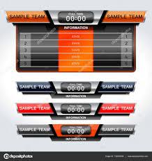 Scoreboard Template Soccer Scoreboard Template Stock Vector © Ijaydesign24 24 17