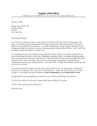 Culinary Cover Letter Under Fontanacountryinn Com