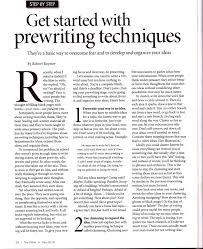 Prewriting Techniques Borneo Expat Writer Get Started With Prewriting Techniques