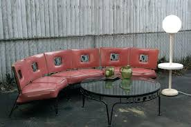 1950s vintage woodard salmon wrought iron gs vine pattern outdoor patio furniture local pick up mid century modern mid century patio furniture mid