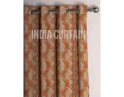 presto rust color jacquard curtain india ready made remodel my kitchen cream cabinets house