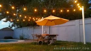 How To String Cafe Lights How To Hang String Lights And Cafe Lights The Arizona Report