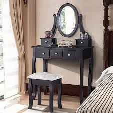 5 drawers furni dressing makeup vanity table w stool mirror