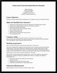 Entry Level Finance Resume Haadyaooverbayresort Com