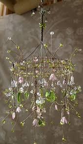 dainty pink sunshower chandelier