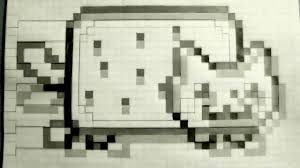 Scary Pop Up Nyan Cat In 10 Minutes Screamer Nyan Cat Graph Paper
