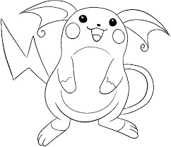 Small Picture Pokemon Raichu Coloring Pages GetColoringPagescom