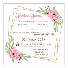 Invitacion Plantilla Boda Formato Editable