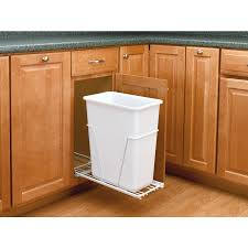 pullout trash can.  Trash RevAShelf 30Quart Plastic Pull Out Trash Can And Pullout V