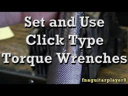 Conversion Chart From Inch Pounds To Foot Pounds How To Set And Use Click Type Torque Wrenches And Foot