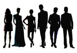 Vectors Silhouettes Men And Women Silhouette Vectors Download Free Vector Art Stock