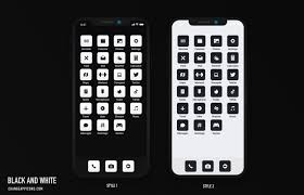 ios 14 app icons black and white app