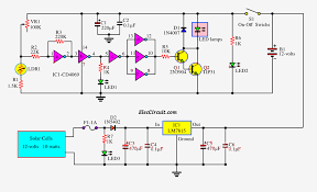 Automatic Light Operated Switch Using Ldr And Ic 741 Automatic Night Led Light Switch Circuit Using Solar