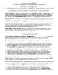 Sample Letters To Veterans Resume For Veterans Veteran Resume