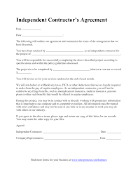 Independent Contractor Agreement Template Impressive Simple Independent Contractor Agreement Template