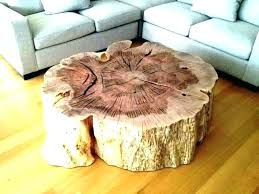 tree stump table base trunk dining top coffee using a as