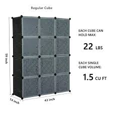 12 cube organizer black better homes and gardens 8 espresso 2 ideas closetmaid cubeicals