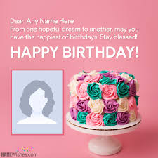 special happy birthday wishes with name