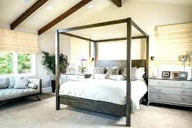 Farmhouse Canopy Bed Queen Size Canopy Bed Canopy Bed Frame ...