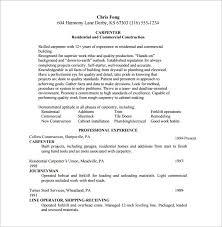 Carpenter Resume Construction Carpenter Lezincdc Com