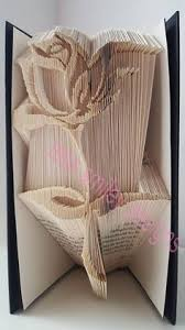 elegant rose book folding pattern only 300 pages bookart book folding art