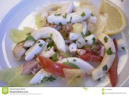 Cold seafood salad stock image. Image ...