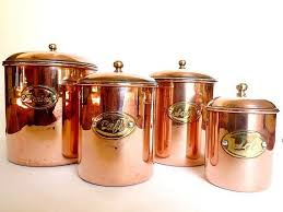 French Copper Canisters.Housewares .Kitchen decor   Copper, Copper .
