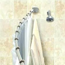 moen curved tension shower rod curtain gorgeous curved tension shower rod bronze crescent with integrated clothesline