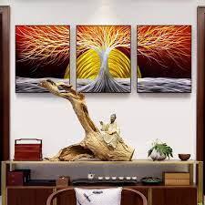 3d metal trees oil painting handmade
