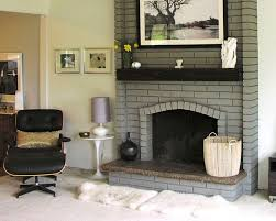 modern painting brick fireplace ideas