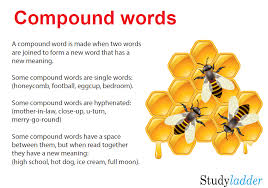 Compound Words, English skills online, interactive activity lessons