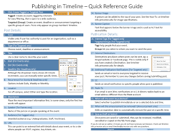 How To Make A Quick Reference Guide Publishing In Timeline Quick Reference Guide Princeton Timeline