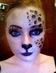 leopard half face makeup tutorial