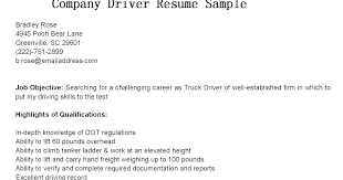 Truck Driver Resume Sample Templates Free – Mklaw
