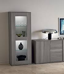 wall cabinets living room furniture. Marino Collection, Modern 1-Door Display Cabinet In Grey Saw- Marked Oak Effect Wall Cabinets Living Room Furniture