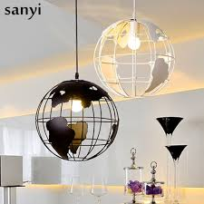 Black And White Globe Pendant Lights Us 30 41 39 Off Modern Globe Pendant Lights Black White Color Pendant Lamps For Bar Restaurant Hollow Ball Ceiling Fixtures In Pendant Lights From