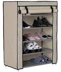 Foldable Shoe Rack 5 layer Portable & Fancy wardrobe Closet Organizer  Collapsible Almirah Shelf Multipurpose 5 ...