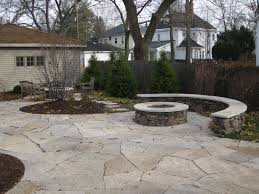patios drylaid flagstone patio mortared fieldstone seatwall and fire pit patios t82 flagstone