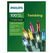 Philips Twinkle Lights Philips 100 Twinkling Multi Color Mini Lights 7 Colors