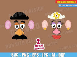 119 mr potato head free clipart images. Toy Story Mr Mrs Potato Head Face Svg Dxf Png Disney Cut Files