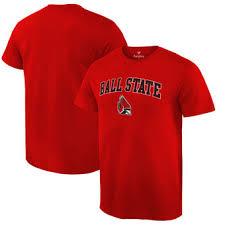 ball state apparel. ball state cardinals fanatics branded campus t-shirt - cardinal apparel t