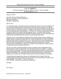 Sample Cover Letters For Physical Education Teachers Parlo