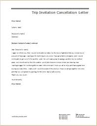 Cancellation Letter Templates For Ms Word Document Templates