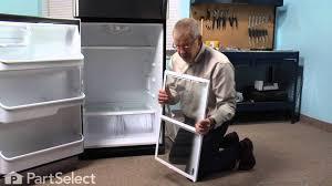 refrigerator repair replacing the spill safe glass shelf with frame frigidaire part 240358906 you